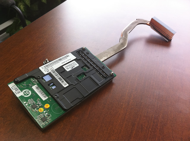 A faulty laptop video card.